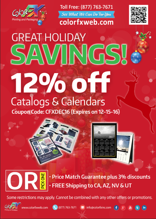 GHS Catalogs & Calendars 12% off at Colorfxweb.com